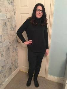 Jumper: New Look. Jeggings: Tesco. Shoes: Just Fab.